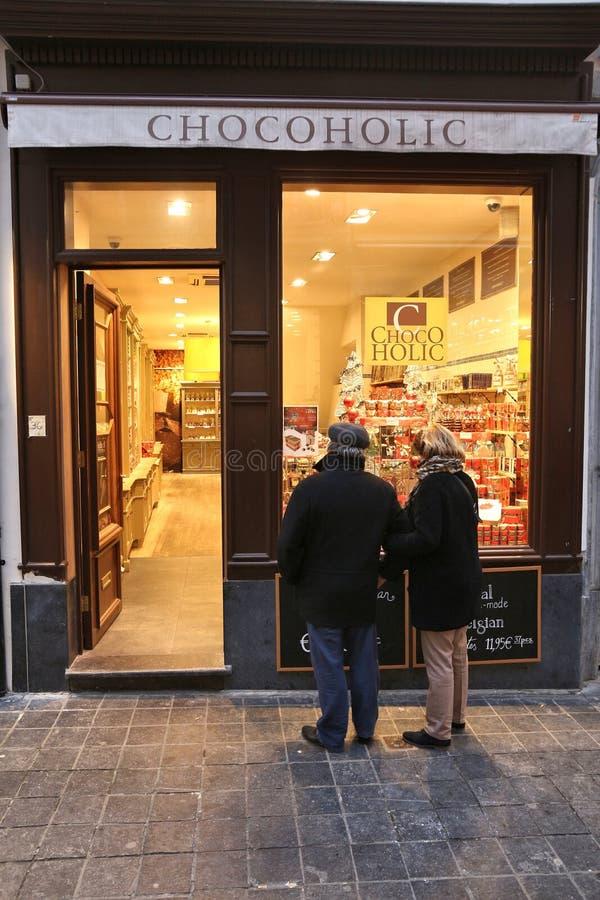 Accro du chocolat, Bruxelles images libres de droits