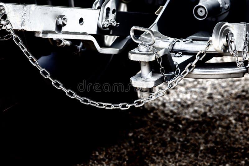 Accroc de tracteur et barre de remorquage photo libre de droits