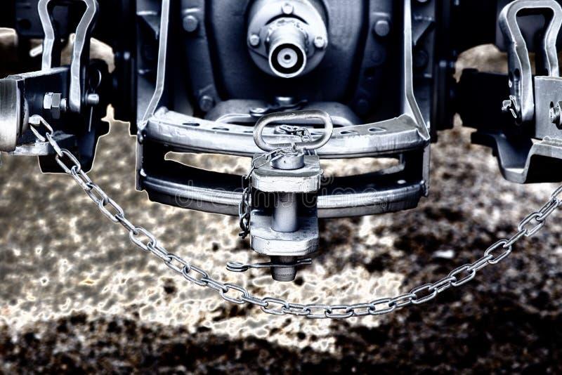 Accroc de tracteur et barre de remorquage photos libres de droits