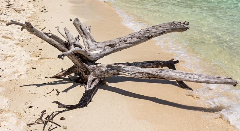 Accroc sur l'île de Poda dans la province de Krabi de la Thaïlande images libres de droits