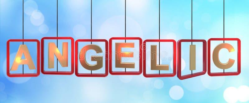 Accrocher angélique de lettres illustration de vecteur
