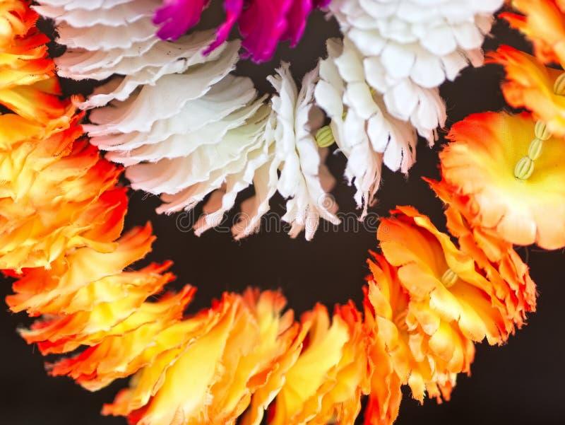 Accrocher coloré de décoration de guirlande Foyer mou, image abstraite pour le fond photo stock