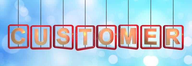 Accrocher de lettres de client illustration stock