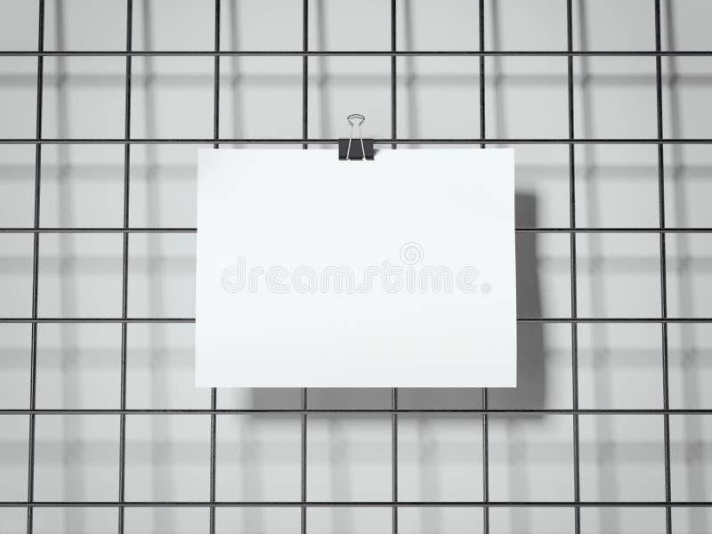 Accrocher de papier de feuille rendu 3d illustration stock