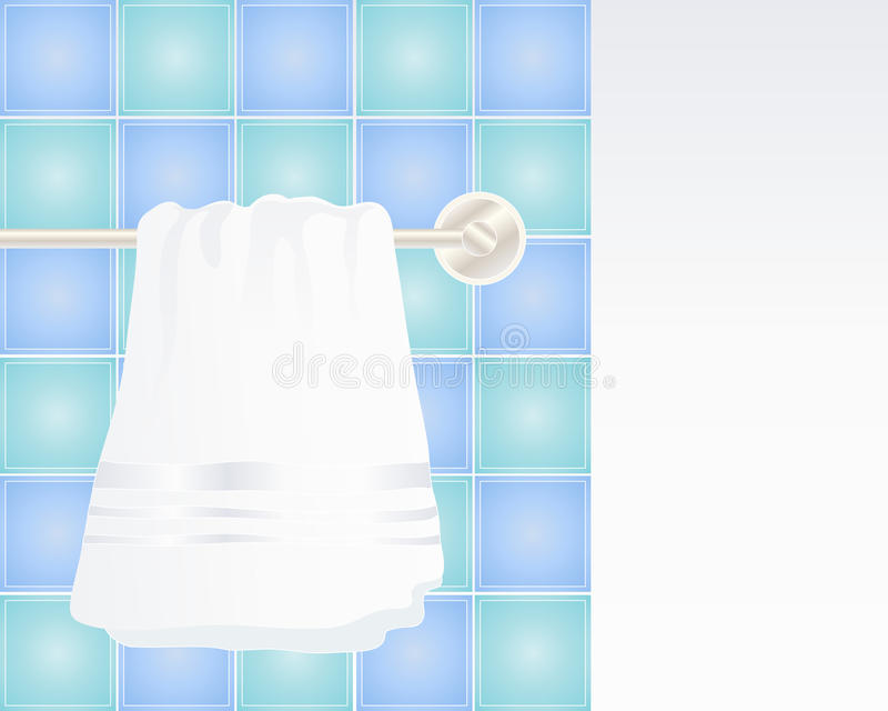 Accrocher de serviette illustration libre de droits