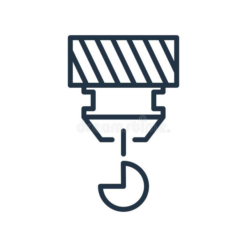 Accrochez le vecteur d'icône d'isolement sur le fond blanc, signe de crochet illustration stock