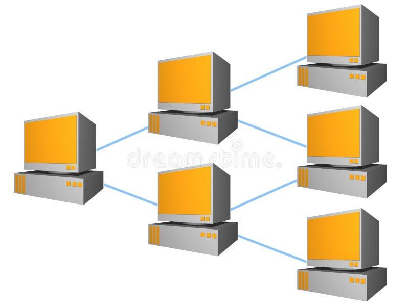 Accroissement connecté d'ordinateurs illustration de vecteur