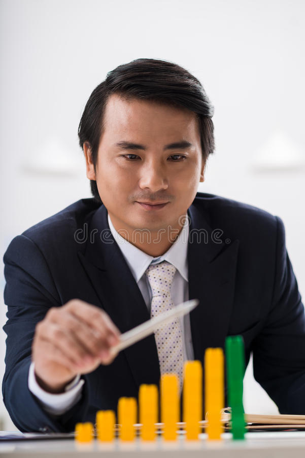 Accroissement d'affaires images stock
