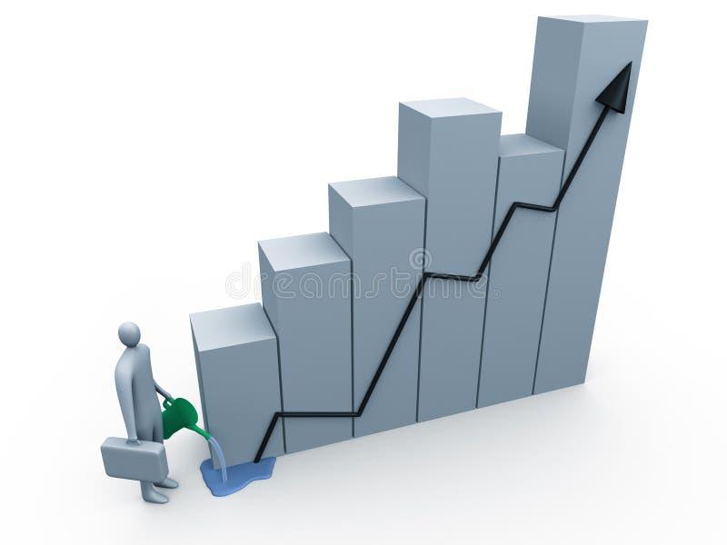 Accroissement d'affaires illustration stock