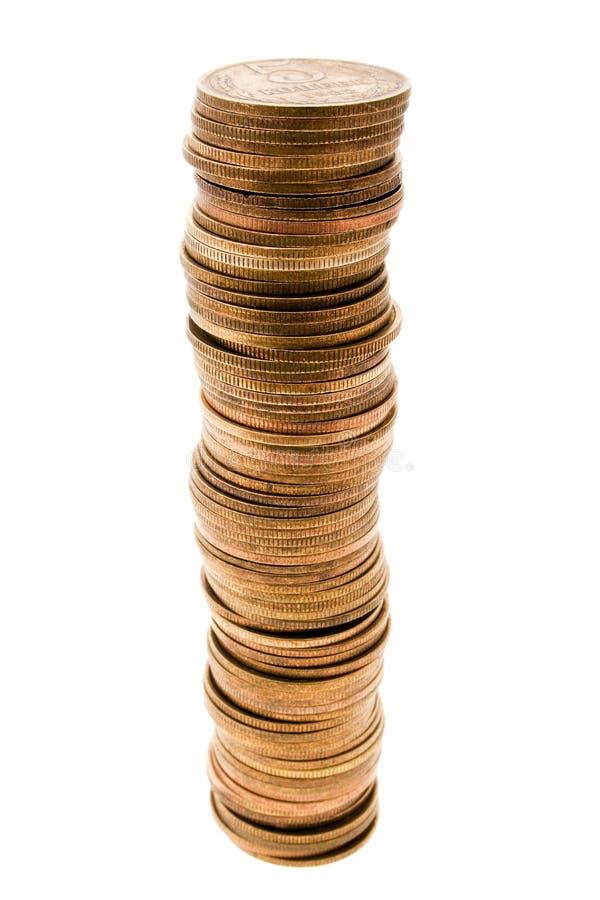 Accroissement de pièce de monnaie photo libre de droits