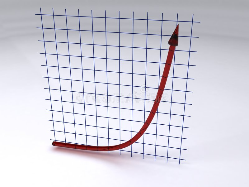 Accroissement exponentiel illustration stock