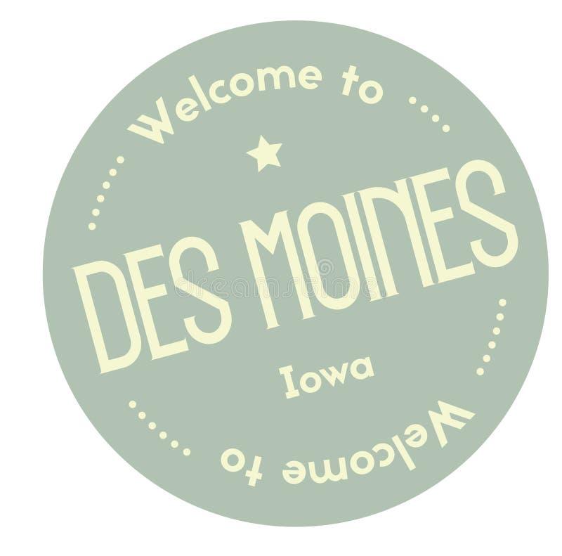 Accueil à Des Moines Iowa illustration libre de droits
