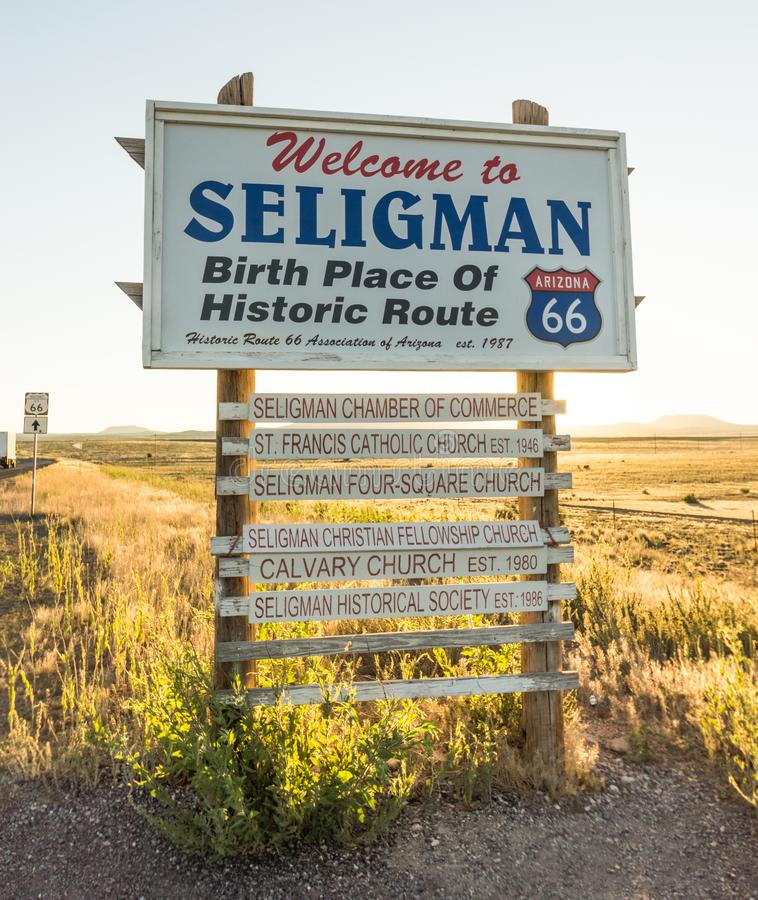 Accueil à Seligman images stock