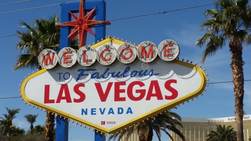 Accueil à Viva Las Vegas photographie stock