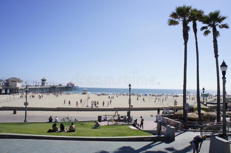 Accueil au Huntington Beach photographie stock libre de droits