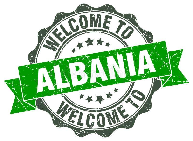 Accueil au joint de l'Albanie illustration de vecteur