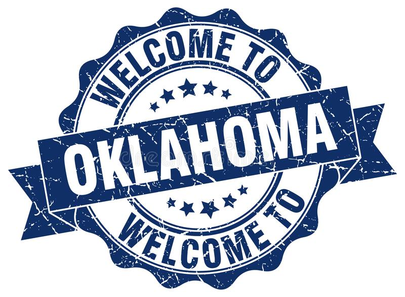 Accueil au joint de l'Oklahoma illustration stock