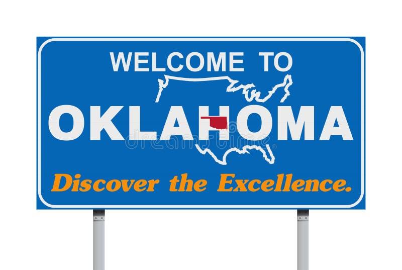 Accueil au panneau routier de l'Oklahoma illustration de vecteur