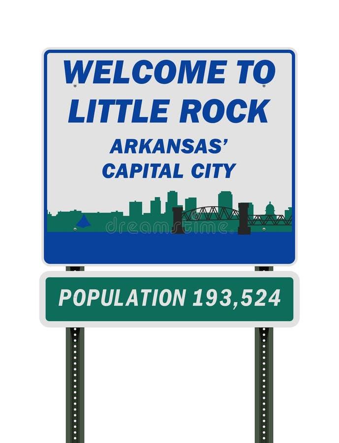 Accueil au panneau routier de Little Rock illustration libre de droits
