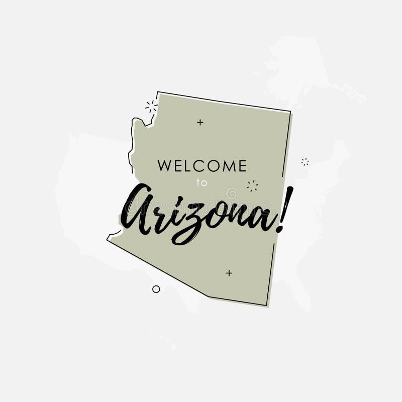 Accueil au signede gris d'Arizonaillustration de vecteur