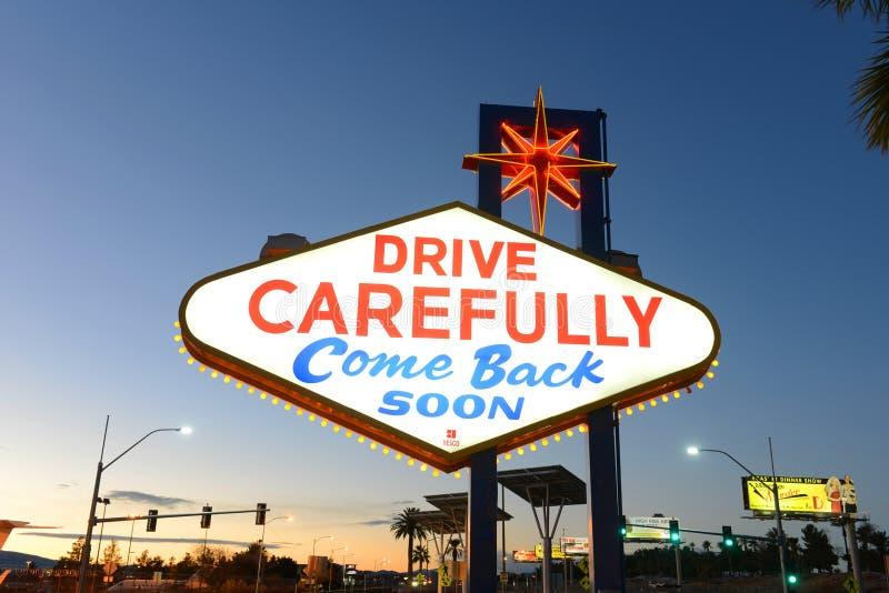 Accueil au signe de Las Vegas, Las Vegas, nanovolt image stock