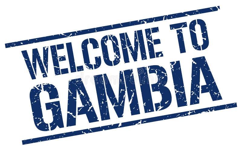 Accueil au timbre de la Gambie illustration de vecteur