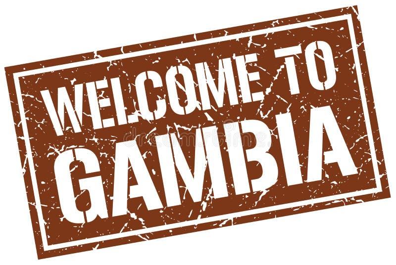 Accueil au timbre de la Gambie illustration stock