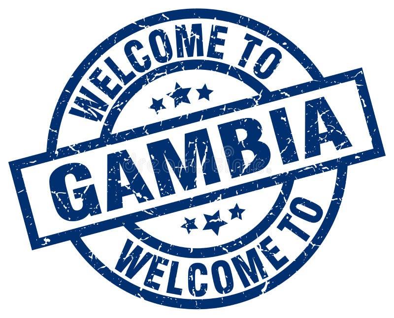 Accueil au timbre de la Gambie illustration libre de droits