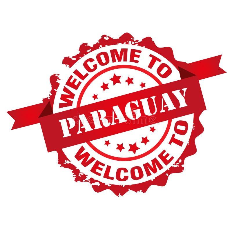 Accueil au timbre du Paraguay illustration stock