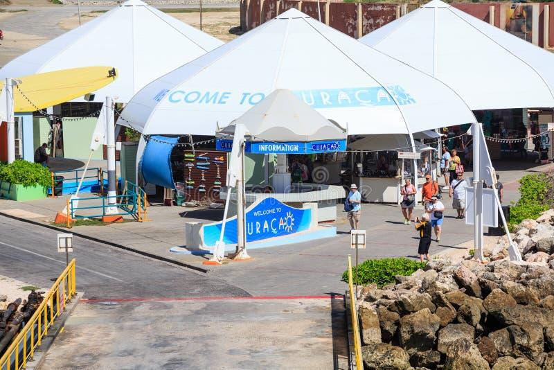 Accueil aux tentes du Curaçao images stock