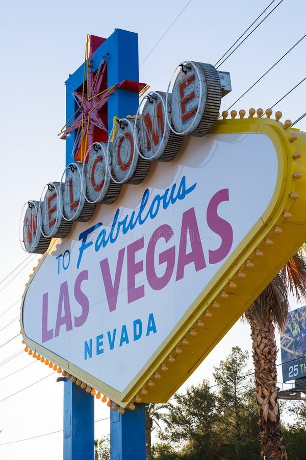 Accueil célèbre au signe fabuleux de Las Vegas, Las Vegas, Nevada, USA images stock