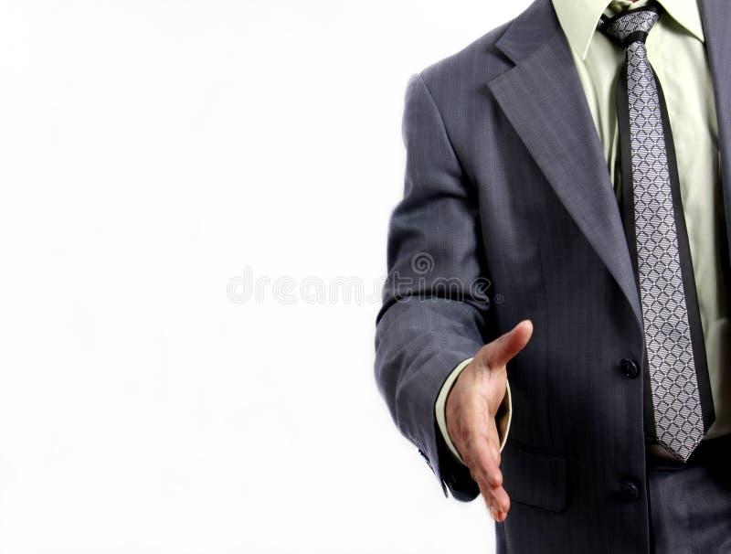 Accueil d'homme d'affaires de prise de contact de contact image stock