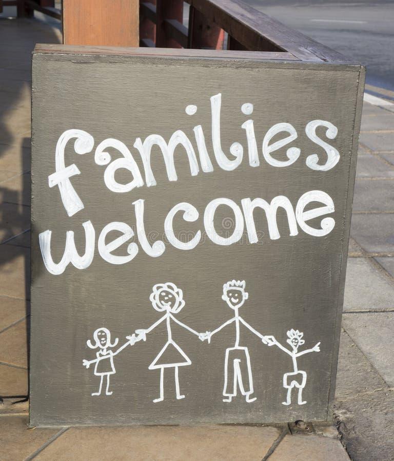 Accueil de familles image libre de droits