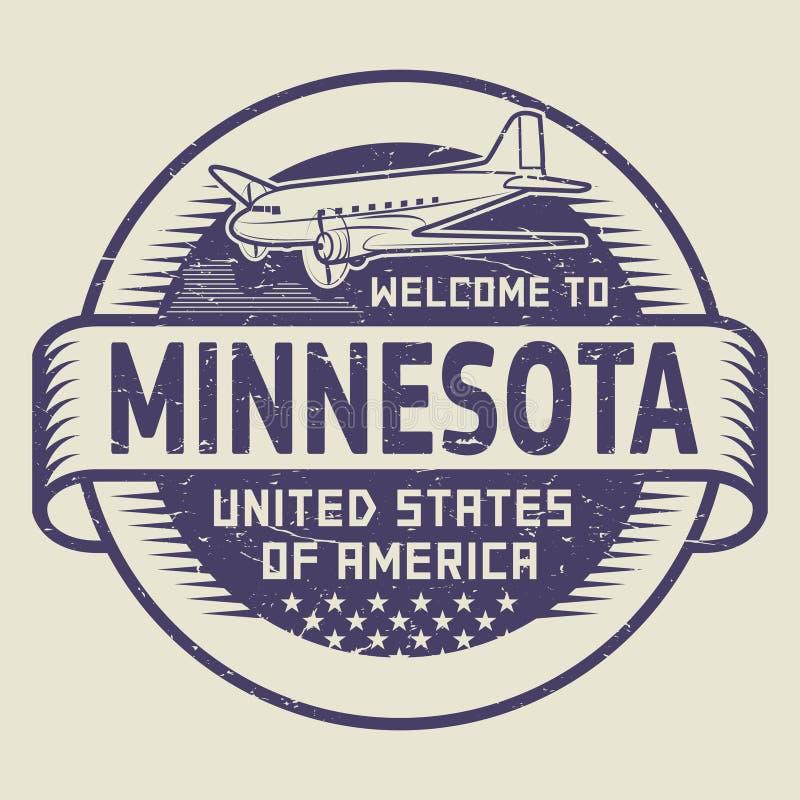 Accueil de timbre vers le Minnesota, Etats-Unis illustration stock