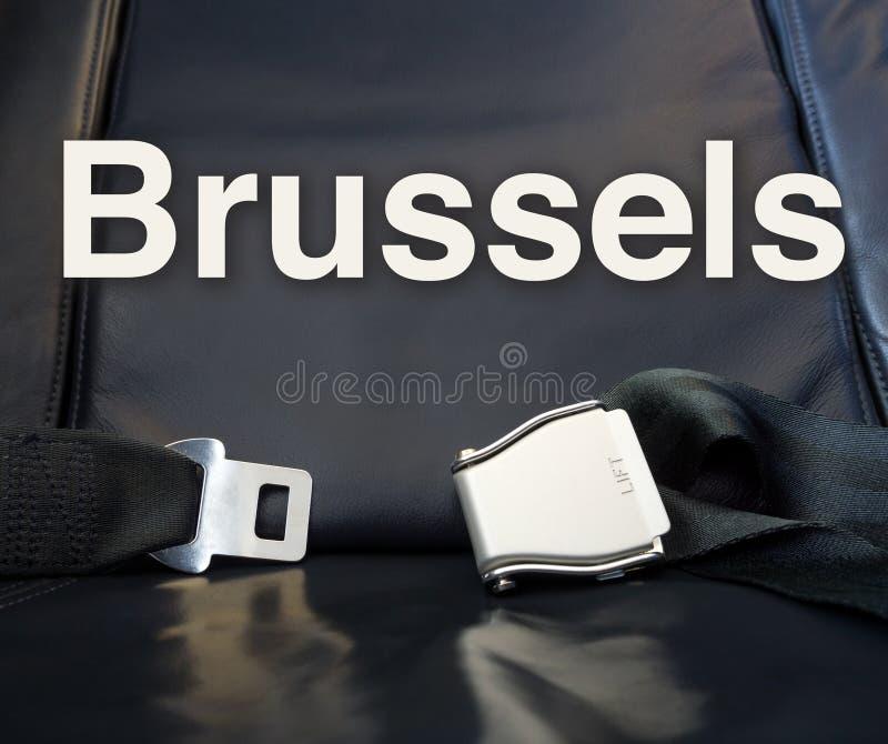 Accueil vers Bruxelles ! Laissez-nous la mouche, voyage, voyage, visite, voyage, images stock