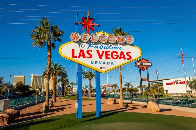 Accueil vers Las Vegas fabuleux, Nevada photos libres de droits