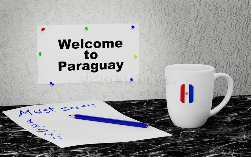 Accueil vers le Paraguay illustration stock