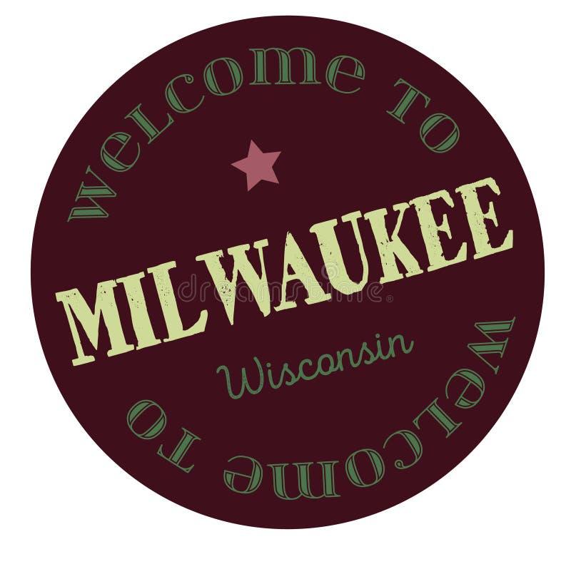 Accueil vers Milwaukee le Wisconsin illustration de vecteur