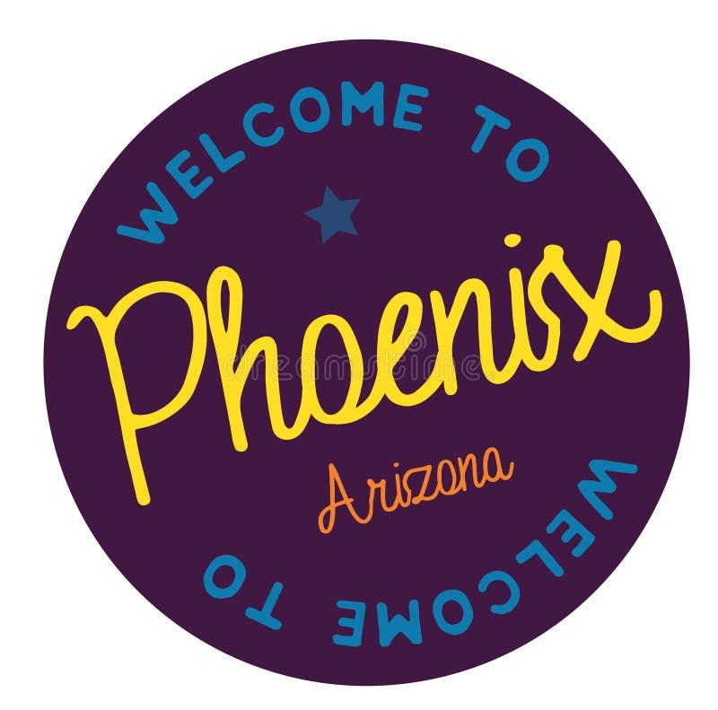 Accueil vers Phoenix Arizona illustration libre de droits