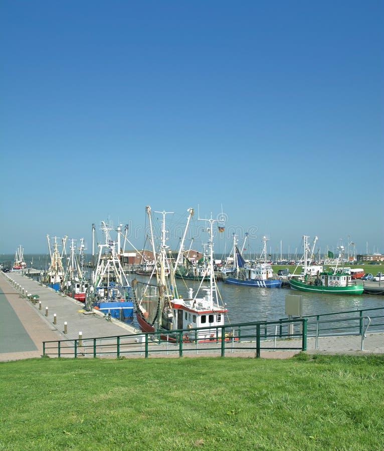 Accumersiel, ανατολή Frisia, Βόρεια Θάλασσα, Γερμανία στοκ φωτογραφίες με δικαίωμα ελεύθερης χρήσης