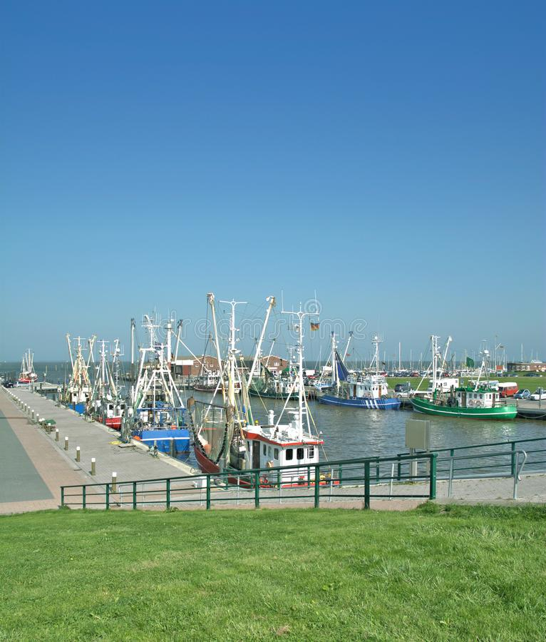 Accumersiel, het Oosten Frisia, Noordzee, Duitsland royalty-vrije stock foto's