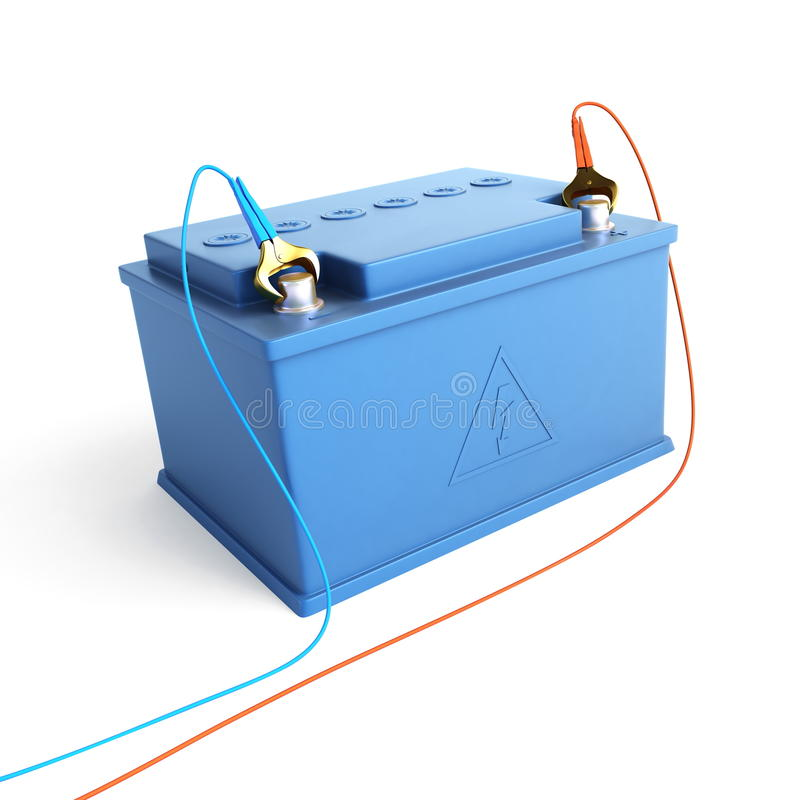 Accumulator battery. Isolated on a white background royalty free illustration