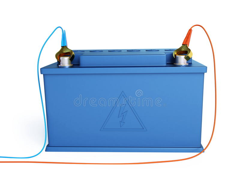 Accumulator battery. Solated on a white background stock illustration