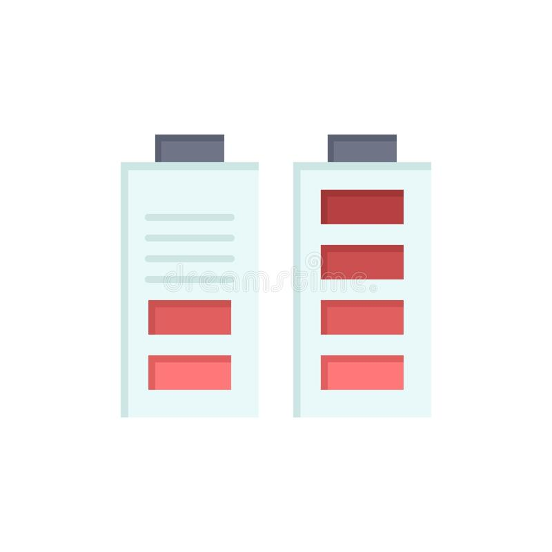 Accumulator, Battery, Power, Full  Flat Color Icon. Vector icon banner Template vector illustration
