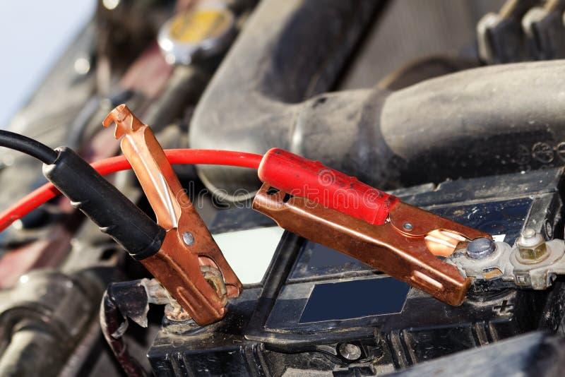 Accumulator car wire plug stock photography