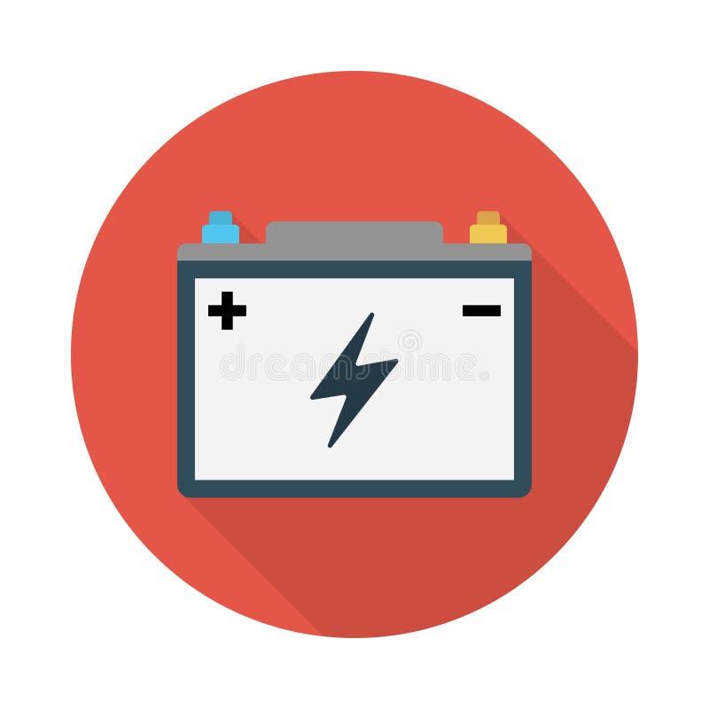 Accumulator flat vector  icon. Accumulator flat icon for website design and development, app development. Premium pack stock illustration