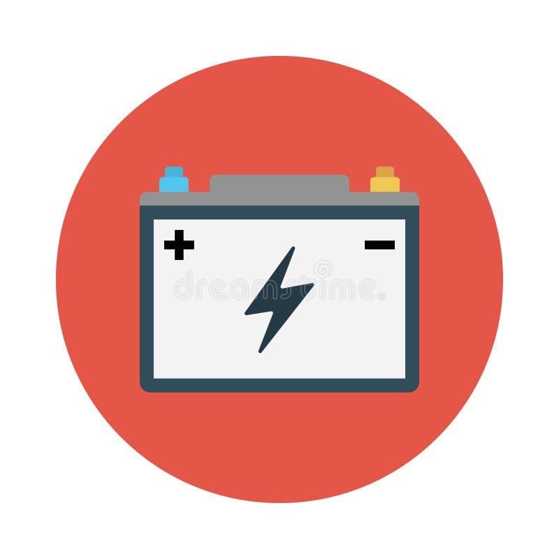 Accumulator flat vector  icon. Accumulator flat icon for website design and development, app development. Premium pack vector illustration