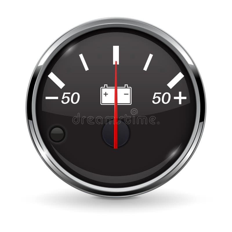 Accumulator gauge. Vector 3d illustration isolated on white background vector illustration