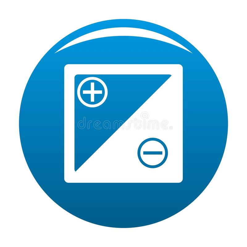 Accumulator icon blue. Circle isolated on white background royalty free illustration