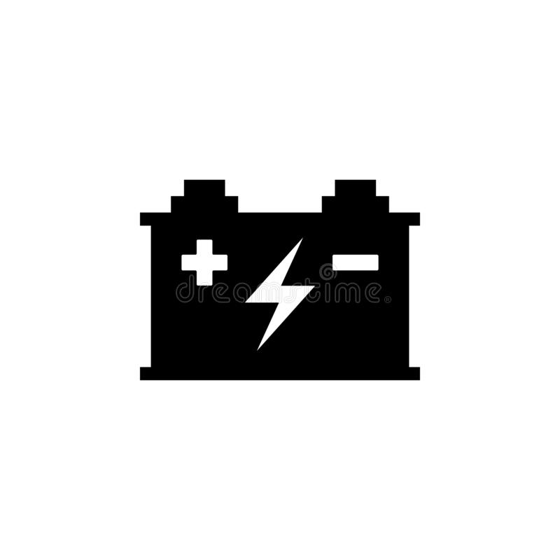 Accumulator icon. Simple glyph vector of energy for UI and UX, website or mobile application. On white background stock illustration